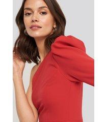trendyol one sleeve mini dress - red