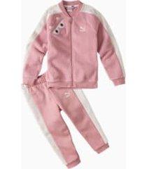 monster kids' jog suit, roze, maat 74   puma