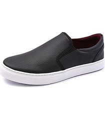 sapatenis slip on iate sapatilha sapato - preto - masculino - sintã©tico - dafiti
