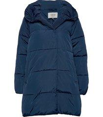 byabel coat - gevoerde lange jas blauw b.young