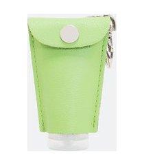 chaveiro sintético porta embalagem | satinato | verde | u