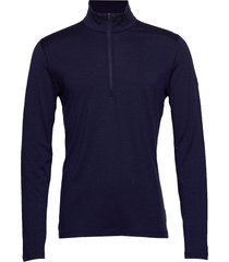 mens 200 oasis ls half zip t-shirts long-sleeved blauw icebreaker