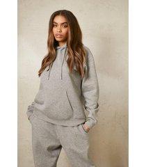 gerecyclede overhead hoodie, grey marl