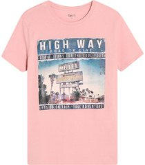 camiseta hombre high way color rosado, talla l