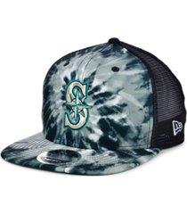 new era seattle mariners tie dye mesh back 9fifty cap