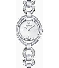 orologio stella, bracciale di metallo, bianco, acciaio inossidabile