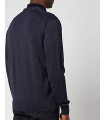 maison kitsuné men's fox head patch classic cardigan - indigo - xxl