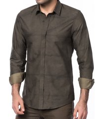 antony morato slim fit overhemd verde militaire