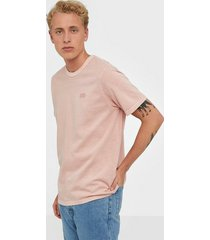 levis authentic crewneck tee farallo t-shirts & linnen red