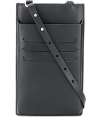 bottega veneta maxi weave lanyard phone case - black