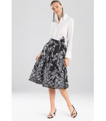 natori floral embroidery skirt, women's, cotton, size 16