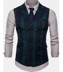 giacca da uomo a doppio petto in cotone stampato turndown collare sottile per uomo