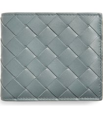 men's bottega veneta intrecciato leather wallet - metallic