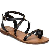 leila shoes summer shoes flat sandals svart aldo