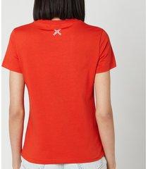 kenzo women's kenzo sport classic t-shirt - deep orange - l