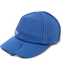 ader error threaded-design six-panel cap - blue