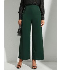 pantalón de cintura alta verde caqui de yoins