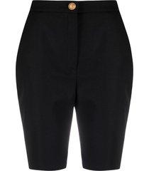 balmain high-rise tailored shorts - black