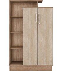 armário multiuso 2 portas elite c/ chave nogal touch demobile