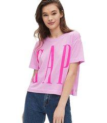 camiseta lila-fucsia gap