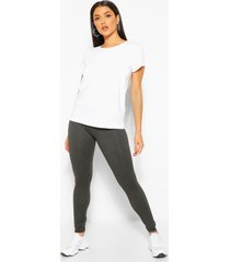basic supersoft jersey leggings, charcoal