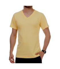 camiseta pau a pique masculina amarelo