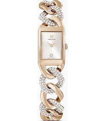orologio cocktail, bracciale di metallo, tono dorato, pvd tonalitã oro champagne