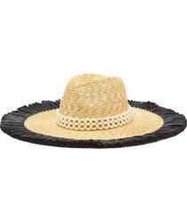 pearl embellished floppy straw hat