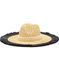 pearl embellished floppy straw hat