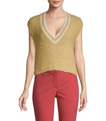 textured cotton-blend sweater