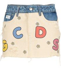 gcds mmlm regular denim skirt