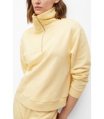 mango women's funnel neck cotton sweatshirt