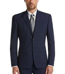 dkny navy plaid extreme slim fit suit