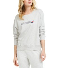 tommy hilfiger sport cotton logo sweatshirt