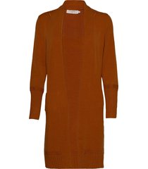 amandine knit cardigan stickad tröja cardigan brun cream