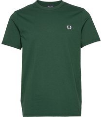 ringer t-shirt t-shirts short-sleeved grön fred perry