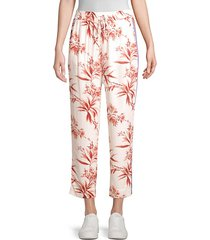 quisy cropped floral & stripe pants