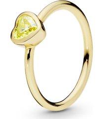 anel shine coração ensolarado