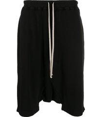 rick owens drkshdw oversized drawstring shorts - black