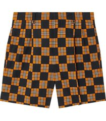checkered tailored shorts