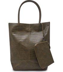 bolso textura con cosmetiquera color verde, talla uni