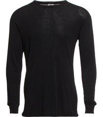 dovre wool t-shirts 1/1 ærme underkläder svart dovre