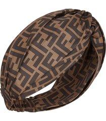 fendi ff motif headband - brown