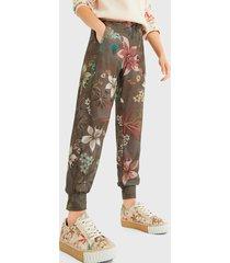 pantalón jogger desigual multicolor - calce regular