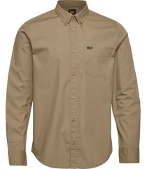 lee button down skjorta casual beige lee jeans