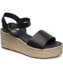 espadrilles 4342 sandalette med klack espadrilles svart billi bi