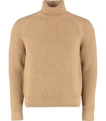 hugo boss gilo turtleneck virgin-wool pullover