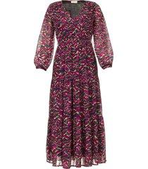 maxi jurk met print xylophone  roze