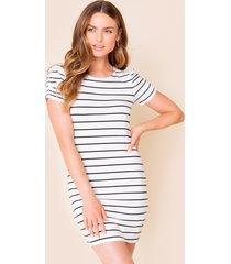 women's adena striped mini dress in ivory by francesca's - size: 3x
