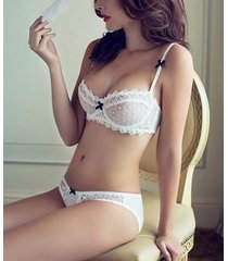 a b c d cups 32 34 36 38 bra set women underwear lace wedding gifts white black